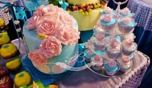 Tort weselny cupcakes
