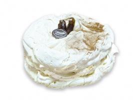 Tort Dakłas - Francuski rarytas. Lekki krem na bazie serka mascarpone i bitej śmietany z daktylami i<br> orzechami, połączone delikatną wykwintną bezą.